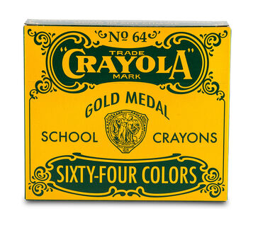 Vintage Box of 64 Crayons