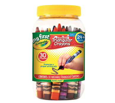 My First Crayola Washable Triangular Crayons 30ct.