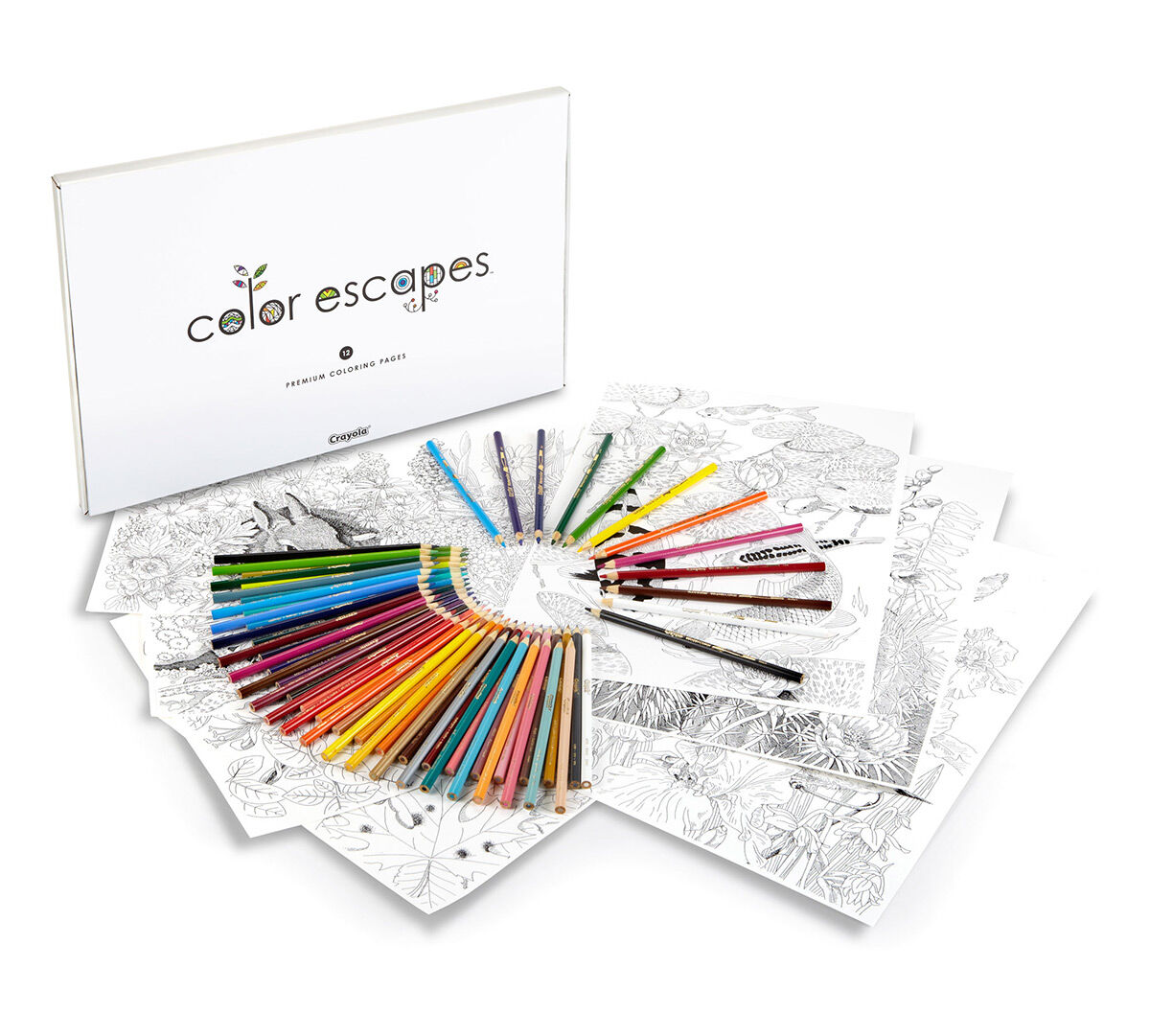 Color Escapes Adult Coloring Kit Garden