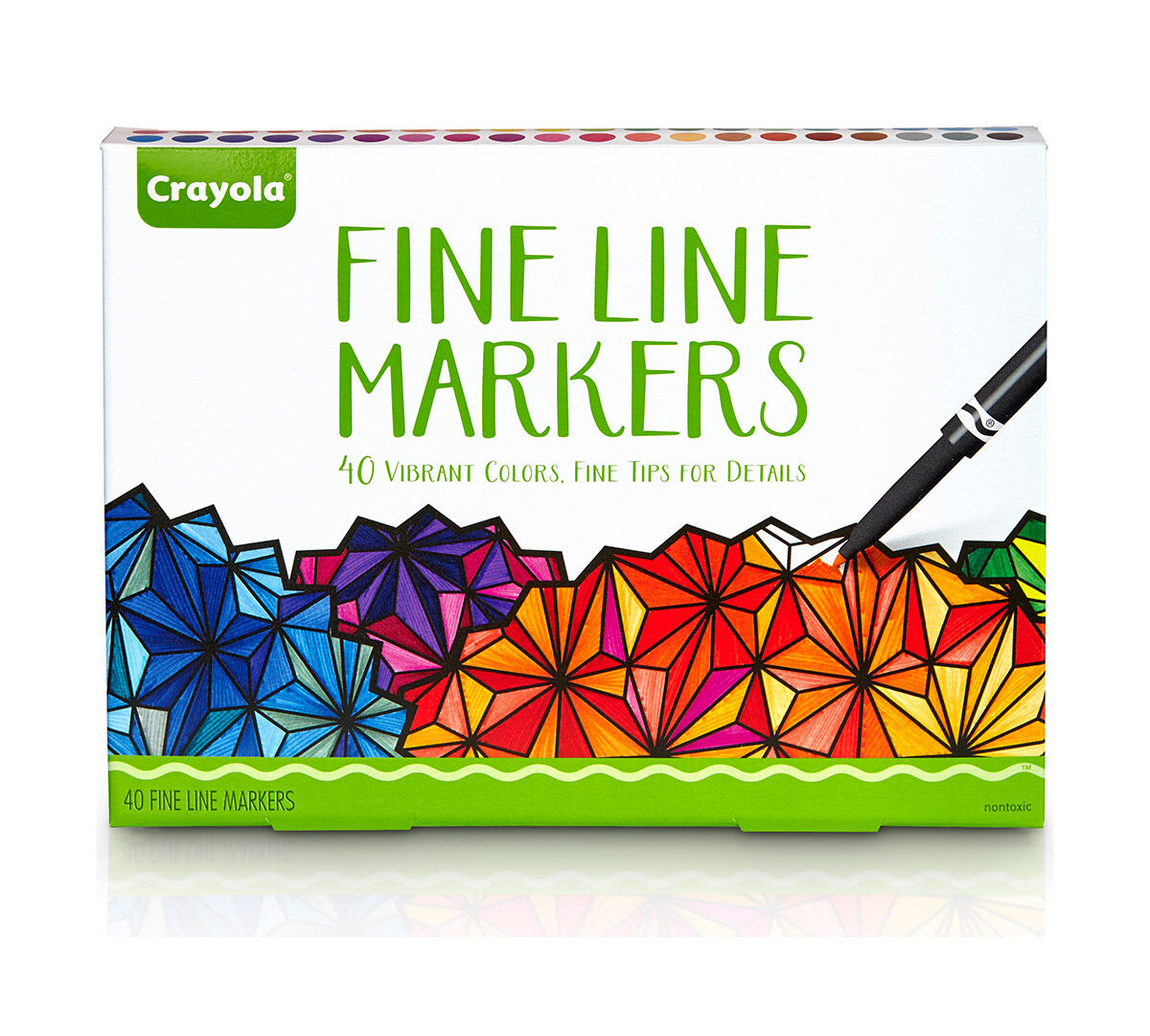 Crayola 40 Ct. Vibrant Fine Line Markers with fine tips for detail ...