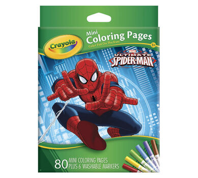 Mini Coloring Pages Marvel Spiderman Crayola