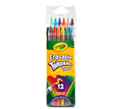 Erasable Twistables Colored Pencils, 12 Count