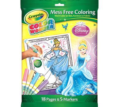 Color Wonder Coloring Pad & Markers - Disney Princess - Crayola