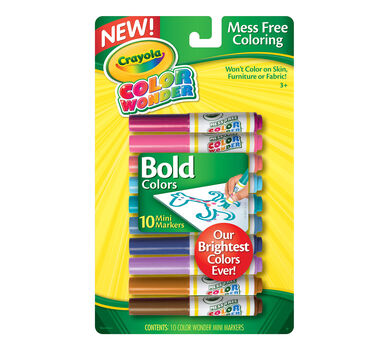 Color Wonder Mini Markers 10ct - Bold