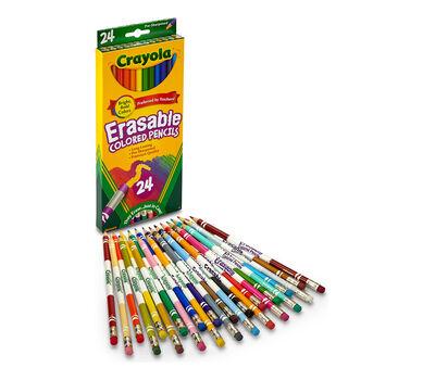 Crayola Erasable Colored Pencils, Art Tools, Adult Coloring, 24 Count