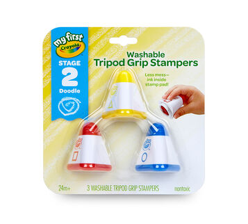 My First Washable Tripod Grip Stampers 3 count front