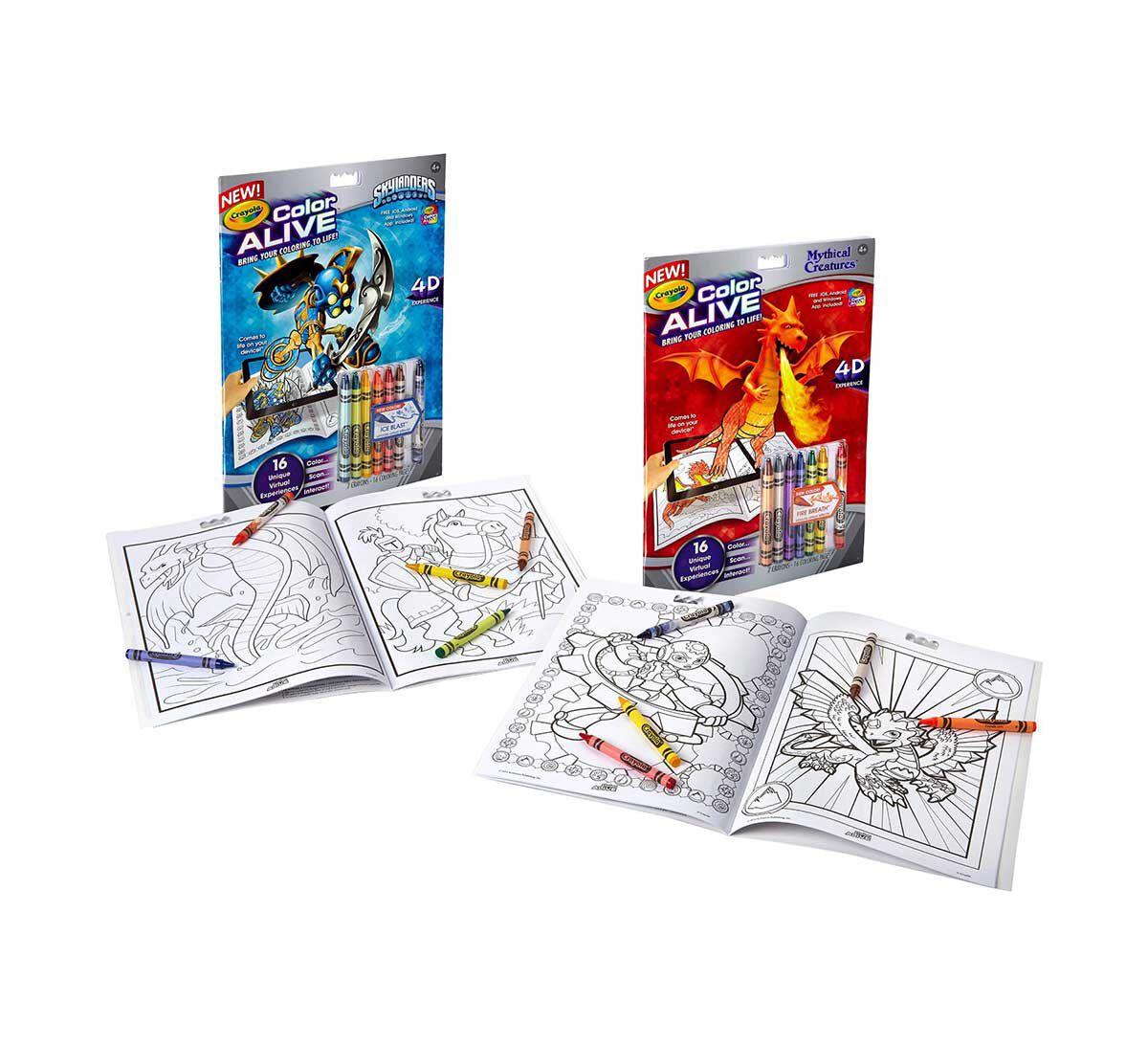 Printable color alive pages - Color Alive Combo Pack Skylanders And Mythical Creatures