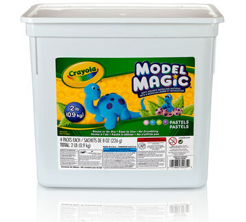 Model Magic 2 lb tub pastel colors front