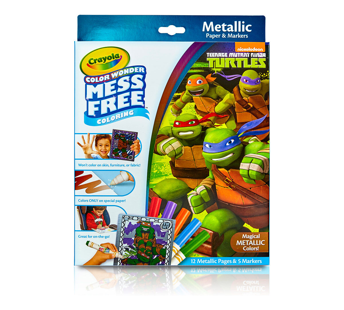 color wonder metallic paper u0026 markers teenage mutant ninja