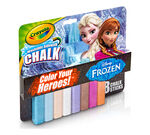 8 ct. Frozen Washable Sidewalk Chalk - Color Your Heroes!
