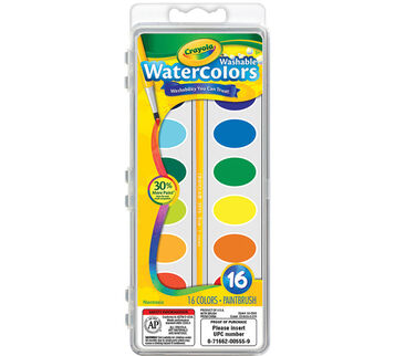 Washable Watercolors 16 ct.