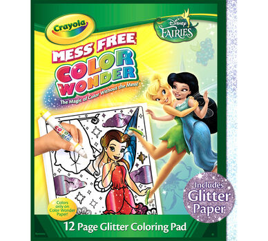 Color Wonder Fairies Glitter Coloring Pad