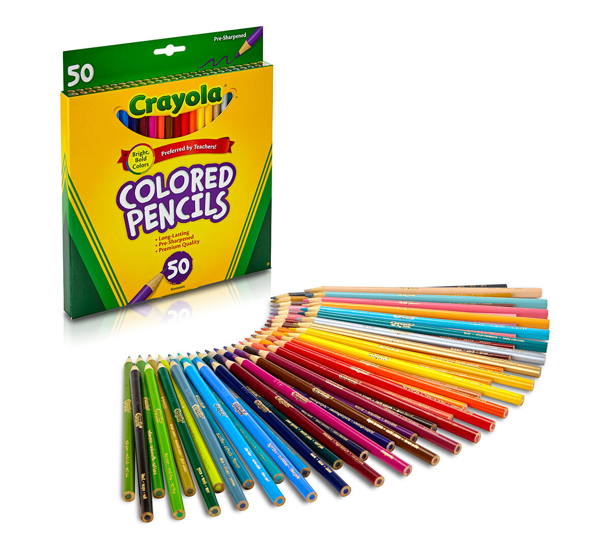 50 ct colored pencils long - Crayola Write Start Colored Pencils
