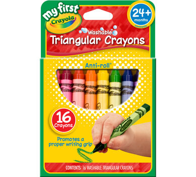 My First Crayola Washable Triangular Crayons 16ct.
