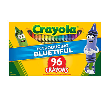 96 count Crayons New Bluetiful front of package