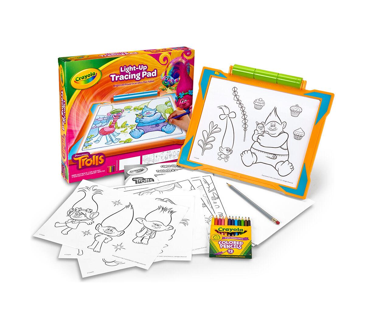 Trolls Light Up Tracing Pad Crayola