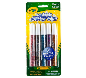 Multicolor Washable Glitter Glue 5 ct.