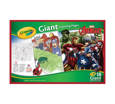 crayola giant coloring pages marvel - photo#11