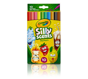 Silly Scents Slim Fine Line Washable Markers-10 ct.