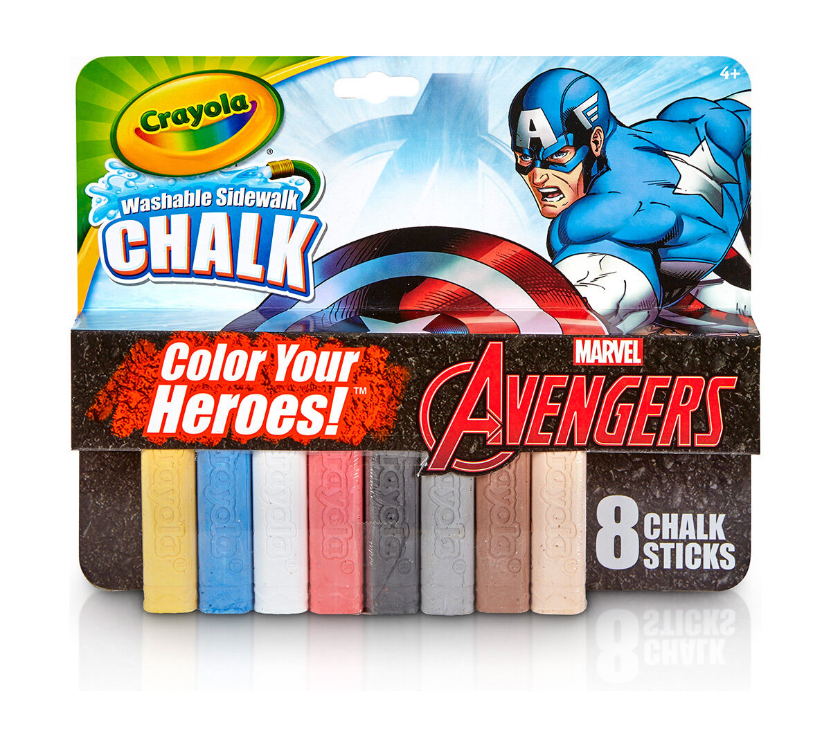 avengers captain america washable sidewalk chalk color your heroes