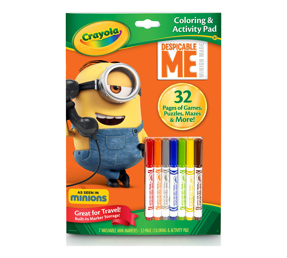 coloring activity pad wmarkers despicable me - Crayola Color Alive Pages Minions