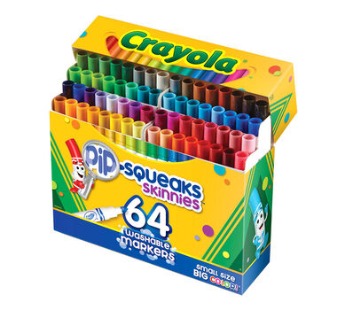 crayola pip squeaks skinnies 64 ct washable markers crayola