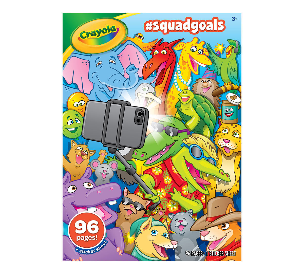 <p>What are your favorite things to do with your besties? Explore the funactivities and adventures that friends of all shapes and sizes can dotogether in the Crayola Squad Goals Coloring Book. There are 96 pages oftrendy line art depicting friends accomplishing their squad goals. Alsoincludes a sticker sheet. Great for kids ages 3 and up!</p>