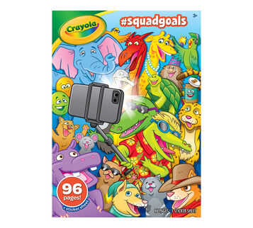 #SquadGoals Coloring Books Front View