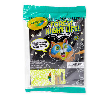 Forest Night Life Coloring Set Front