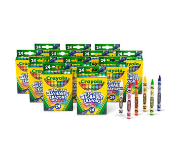 24ct Washable Crayons, 12 boxes per case