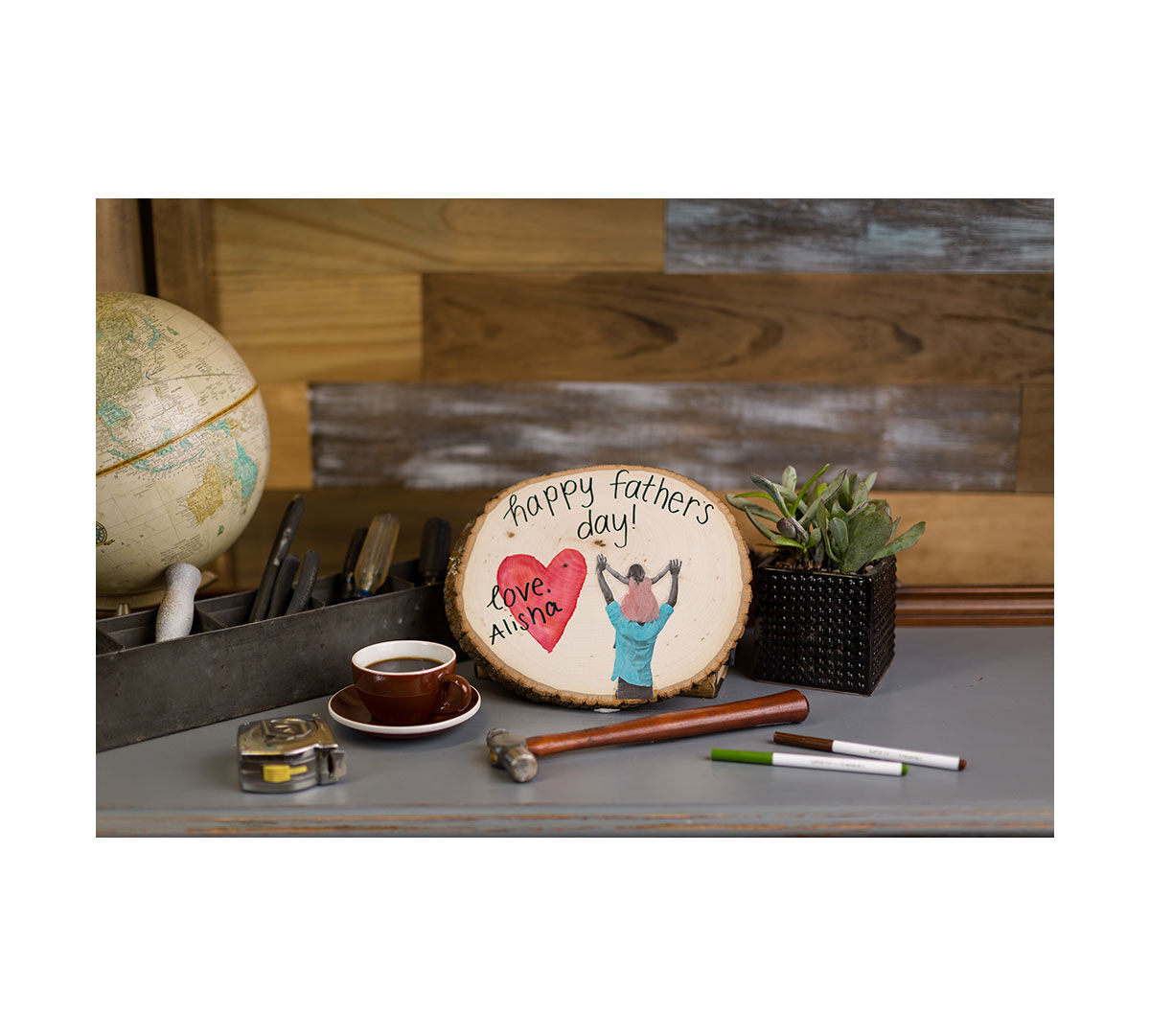 Ciy Materials Kit-fathers Day Wood Plaque