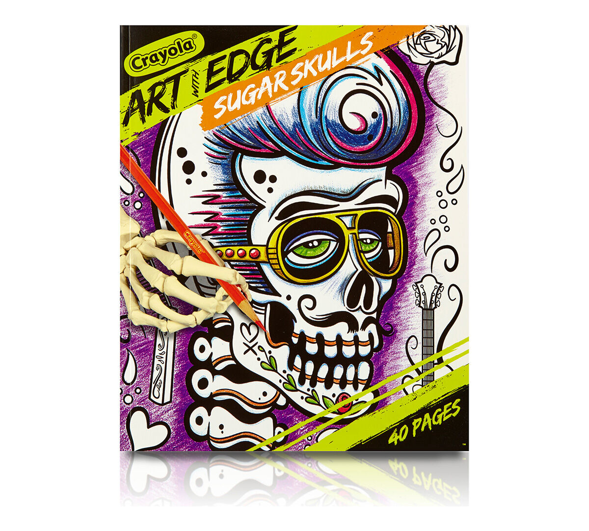 art with edge sugar skulls crayola