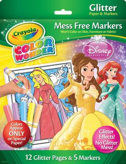 Color Wonder Glitter Paper & Markers - Princess