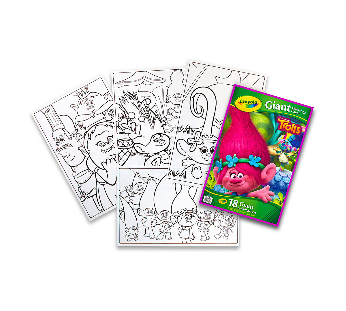 giant coloring pages trolls