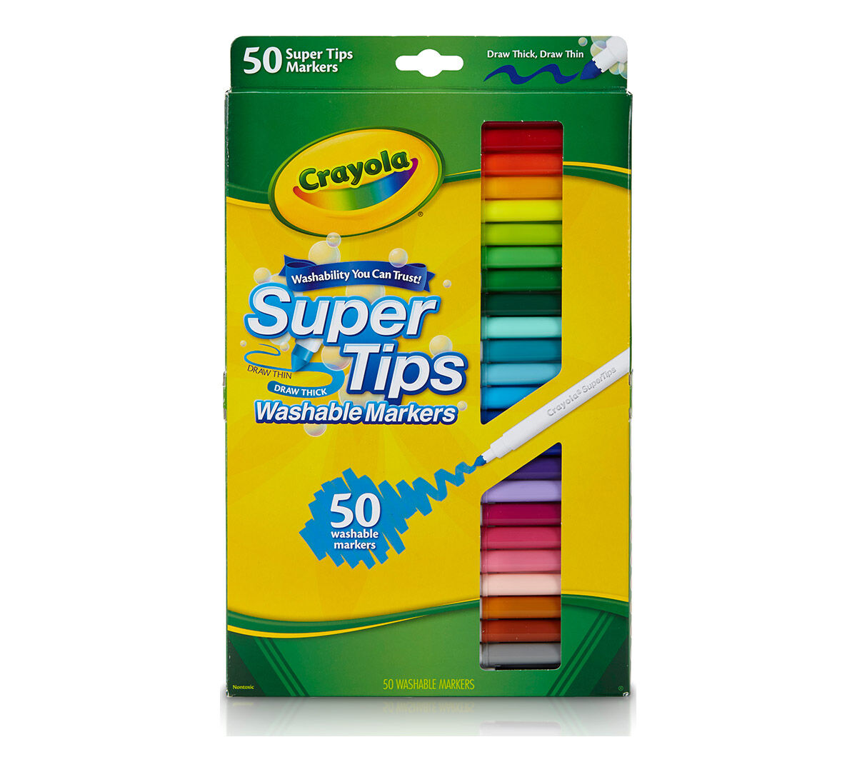 washable super tips markers 50 count - Crayola Color Online