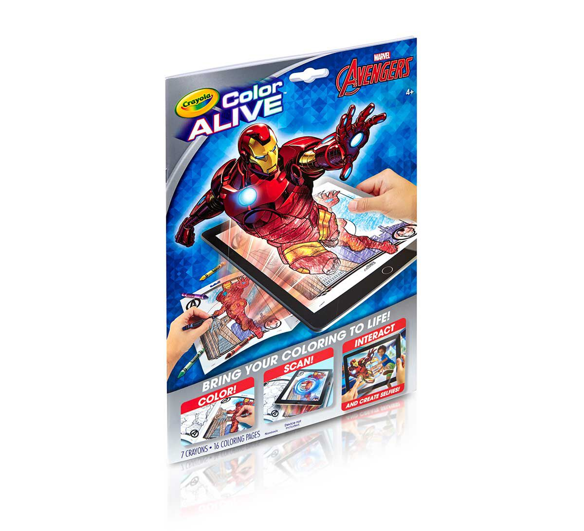 Coloring interactive games - Color Alive Avengers