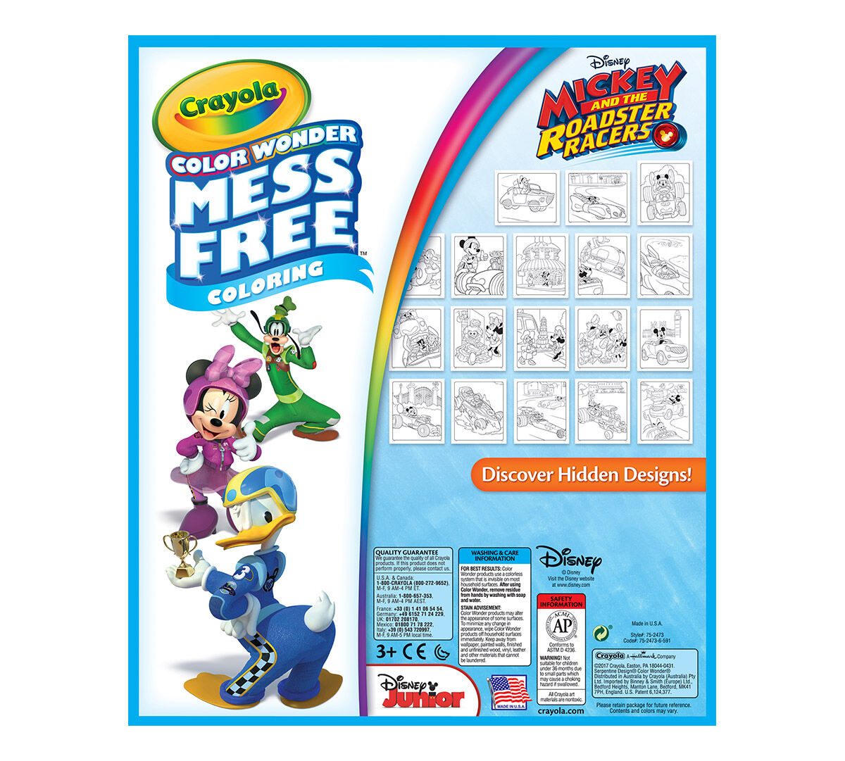Mess Free Color Wonder coloring featuring Mickey Mouse Club House.