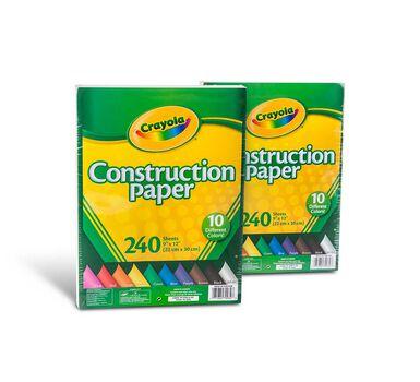 Construction Paper 240 ct. - 2 Pack Bundle