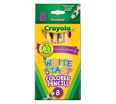 write start colored pencils 8 ct - Crayola Write Start Colored Pencils