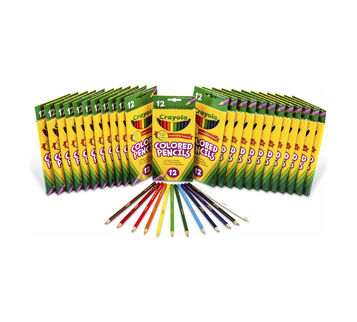 12 ct Long Colored Pencils, 24 boxes per case
