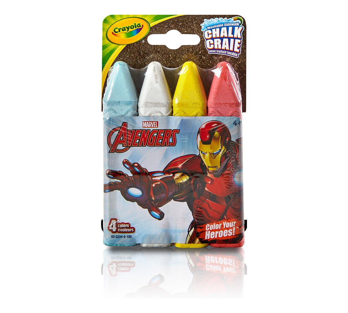 iron man washable sidewalk chalk color your heroes