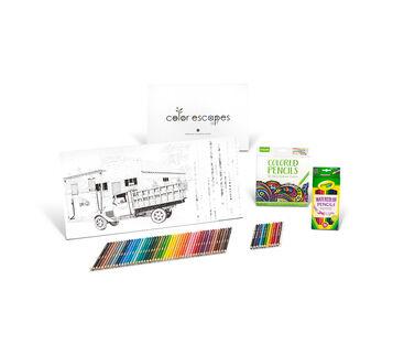 color escapes adult coloring kit americana