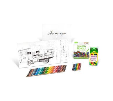 Color Escapes Adult Coloring Kit, Americana
