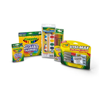 Back to School Supplies Kit with Crayons, Pencils, Markers (All Grades)