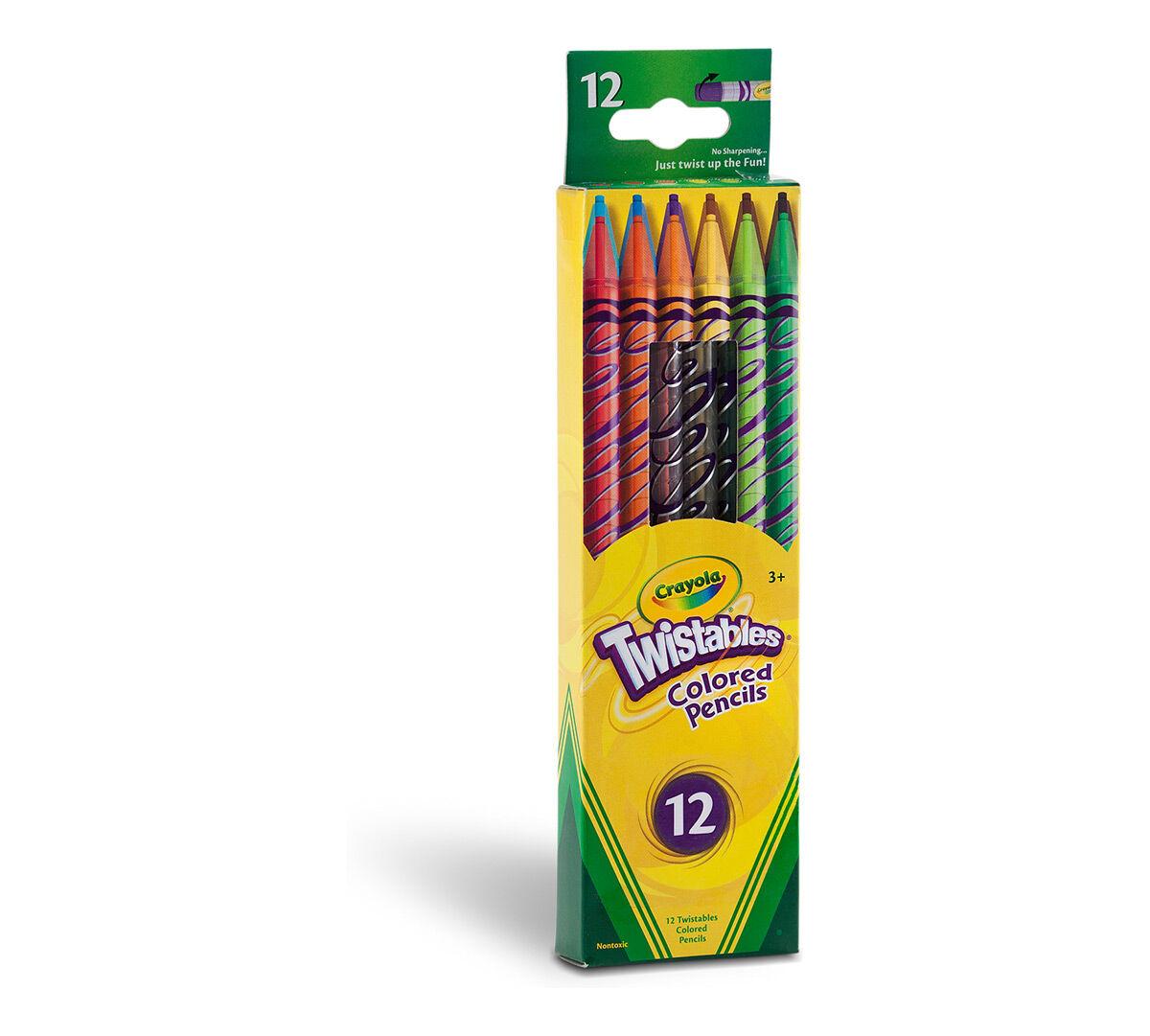 Crayola Twistables Colored Pencils Always Sharp Art Tools 12 Count