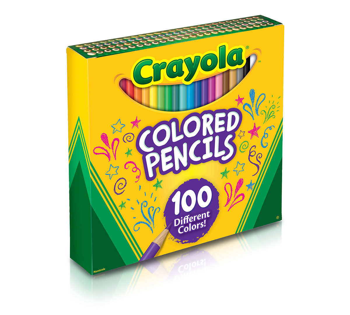 Crayola Colored Pencils 100 Count Vibrant Colors Pre Sharpened Art Tools Great For Adult