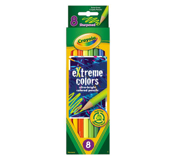 eXtreme colors Colored Pencils 8 ct