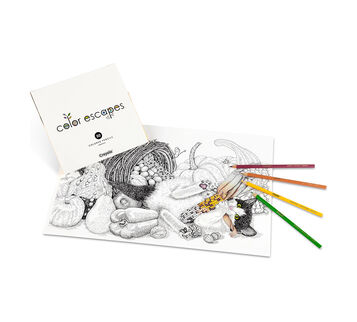 Color Escapes Adult Coloring Kit, Paw Prints