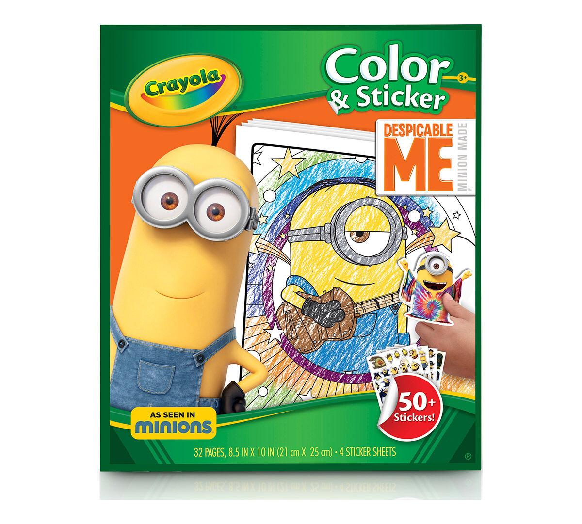 color sticker despicable me - Crayola Color Alive Pages Minions