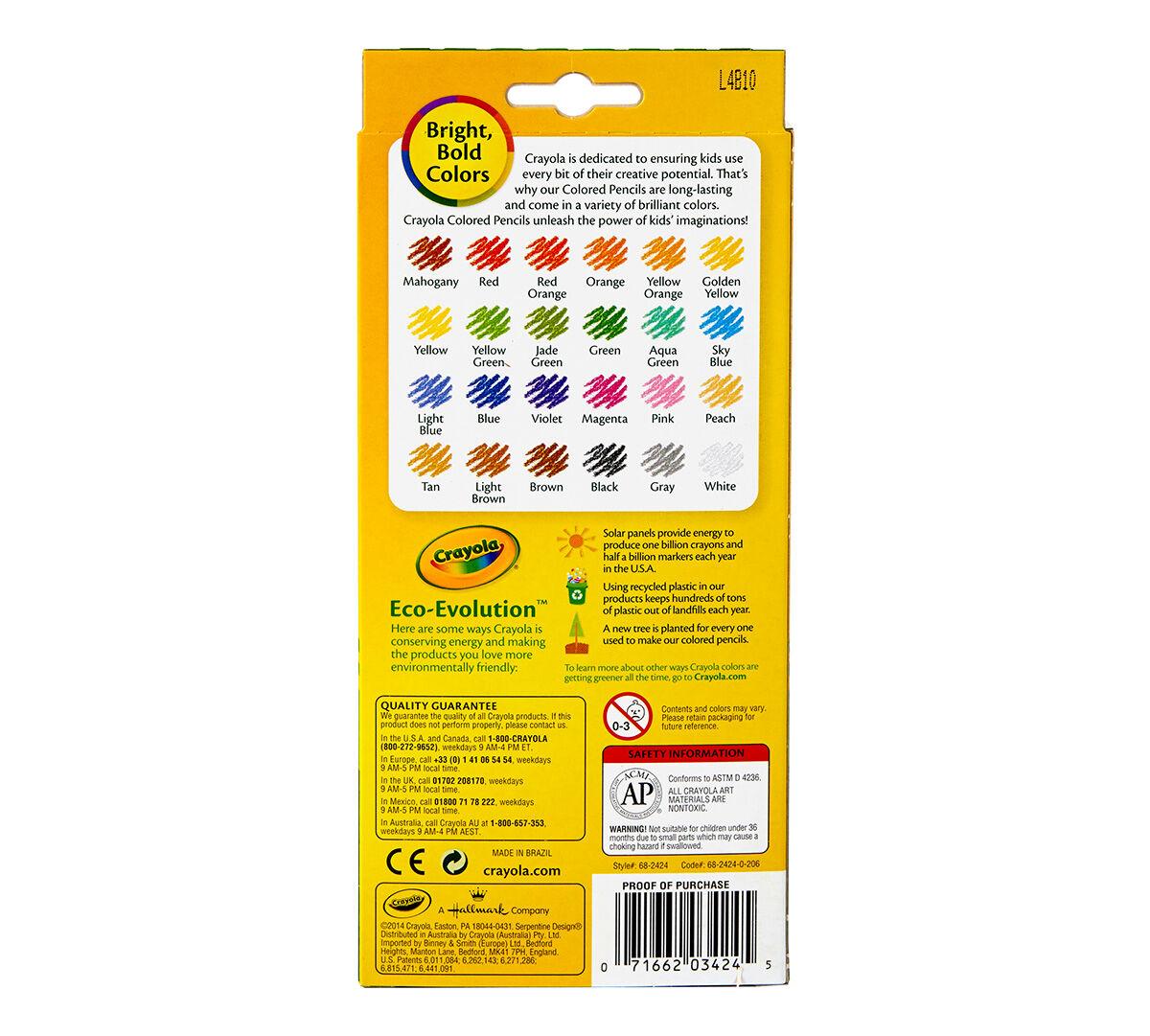 Crayola Erasable Colored Pencils Art Tools Adult Coloring 24 Count
